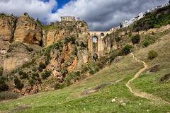 Ronda Rock Andalucia Landscape in Spain Stock Photos