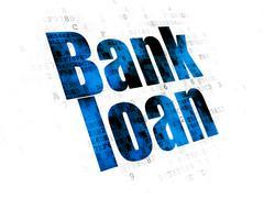 Banking concept: Bank Loan on Digital background Stock Illustration