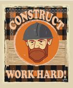 poster builder face - stock illustration