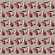 vintage motorbike pattern - stock illustration