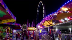 People having fun at the West Coast Amusements Carnival - stock footage