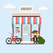 Stylish barber character Stock Illustration