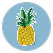 Stock Illustration of pineapple flat vector