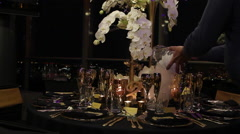 Liquid Nitrogen on a party table Stock Footage