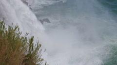 View of Duden Waterfall in Antalya, Turkey - stock footage