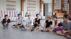 Group Of Schoolchildren children Sitting Playing On Floor - stock footage
