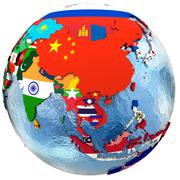Political Asia map - stock illustration