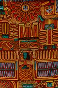 Typical inca style cloth pattern Stock Photos
