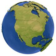 North American continent on Earth Stock Illustration