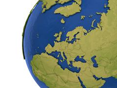 European continent on Earth Stock Illustration