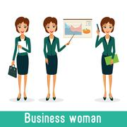 Business woman character vector set Piirros