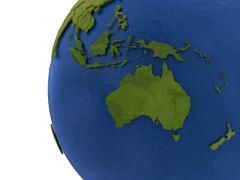 Australasian continent on Earth Stock Illustration