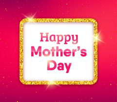 Happy Mothers Day typography greeting card Stock Illustration