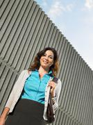 Low angle portrait of a businesswoman Stock Photos