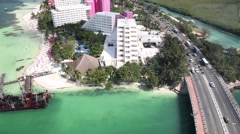 Hotel Zone aerial view from famous panorama tower Stock Footage