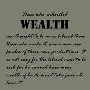 Aristotle Quotes. Those who inherited wealth are thought Stock Illustration