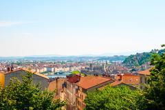 City scape of Lyon, France Stock Photos