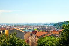 City scape of Lyon, France - stock photo