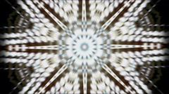 Background star pattern kaleidoscope out of focus Stock Footage