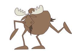 Long legged moose Stock Illustration
