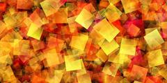 Multicolor Gradient Squares - stock illustration