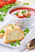Tomato Soup With Oregano - stock photo