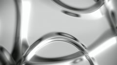 Silver metallic abstract background with soft folds seamless loop Stock Footage
