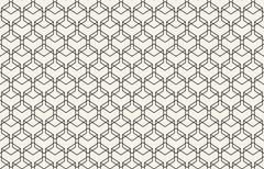 Abstract seamless geometric wallpaper pattern - stock illustration