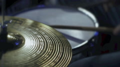 drummer playing the rhythm on the drums - stock footage