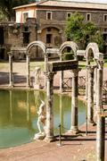Ancient ruins of Villa Adriana, Tivoli, Italy Stock Photos