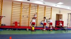 Children's gymnastics Stock Footage