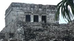 Famous archaeological ruins of Tulum in Mexico in summer - stock footage