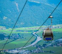 Summer Alpine Cable Car Kuvituskuvat