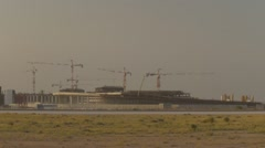 Construction Site Of Muscat International Airport - stock footage