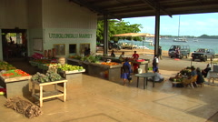 Vava'u harbour side market, people or person in shot, HD, UP15374 Stock Footage