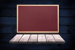 Composite image of image of a wooden board - stock illustration