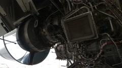 Aircraft Maintenance, Dismantled Plane Engine - stock footage