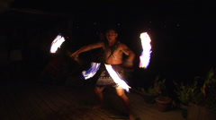 Tongan fire dancer, people or person in shot, HD, UP15557 Stock Footage