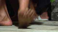Feet dancing with rhythm section in background, people or person in shot, HD, Stock Footage