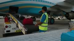 Baggage Conveyor In Muscat International Airport - stock footage