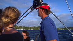 Captain looking ahead, sailing, people or person in shot, HD, UP15640 Stock Footage