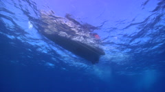 Lone diver entry in bluewater, HD, UP15644 Stock Footage
