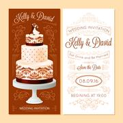 Stock Illustration of Wedding Invitation Banners Set