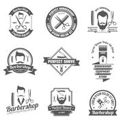 Barber Shop Emblem - stock illustration