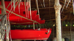 Kayaks in storage shed, HD, UP15827 Stock Footage