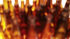 empty bottles, the top view, small depth of sharpness on a neck - stock footage