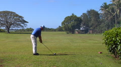 Golf, tourist teeing off, people or person in shot, HD, UP15927 Stock Footage