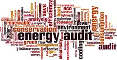 Energy audit word cloud Stock Illustration