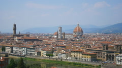 Beautiful cityscape of Florence with the Cathedral Santa Maria del Fiore Stock Footage