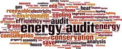 Stock Illustration of Energy audit word cloud